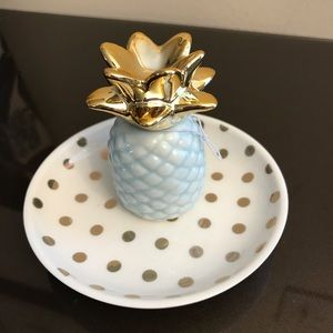 Pineapple jewelry tray- new in box